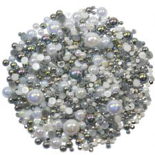'PRECIOUS PLATINUM' Theme Rhinestone and Pearl Embellishment Pack